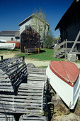 Mystic Seaport Museum, rowboat and traps