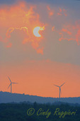 Windmills at Sunset, in the Canaan Valley of West Virginia, view from Thomas WV