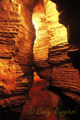 The winding walkway of Howe Caverns, Howes Cave New York