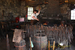 The blacksmith demonstrates his skill, Old Sturbridge Village, Sturbridge, Massachusetts
