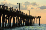 Fishing on Nags Head Pier, Outer Banks North Carolina