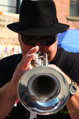 Trumpet player close-up