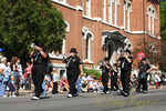 "The ""Hit Men"" in the parade at the Strawberry Festival, Owego New York"
