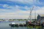 Work and pleasure boats at Sakonnet Point marina, Rhode Island