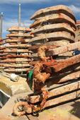 Rusty anchors, Sakonnet Rhode Island