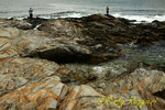 Fishing on the rocky shore, Beavertail State Park, Jamestown, Rhode Island