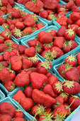 Strawberries at the farm stand