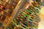Christmas tree of antique books