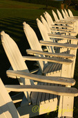 Row of adirondack chairs