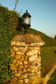 Stone pillar, antique lantern