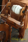 Yarn on the spinning wheel