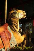 Antique wooden carousel horse