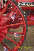 Patriotic Antique Farmall Tractor