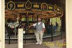 Carousel and Keeper at the Farmer's Museum, Cooperstown, NY