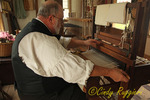 Rug Weaver at the Farmer's Museum, Cooperstown New York