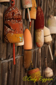 Fishing buoys, Boothbay Maine