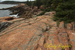 Acadia National Park, Maine; Granite formations along ocean path