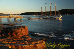 The 4-Master Schooner Margaret Todd at rest in Frenchmen Bay, Bar Harbor Maine