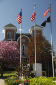 Owego, New York, Historic Courthouse in Spring