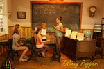 The old schoolroom, Ward O'Hara Agricultural Museum, Auburn, New York,   located north of Owasco Lake, Finger Lakes Region