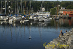 Friends hang out at Watkins Glen Marina