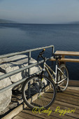 Bike at rest along Seneca Lake, Finger Lakes, NY
