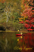 Kayak and autumn reflections