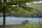 Couple relaxing at Keuka Lake, Hammondsport, New York  Finger Lakes region