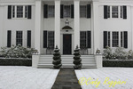 Snow falls at this historic home in Owego NY