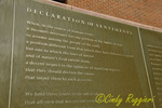 Declaration of Sentiments, the wall at Women's Rights National Historical Park, Seneca Falls New York