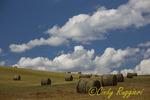 Hay Bales against Blue Sky