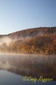 Fog rises over the Susquehanna River, Owego NY