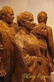 Bronze statues, lobby of Women's Rights National Historical Park Seneca Falls, NY