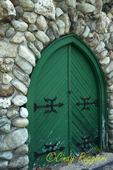 Weathered Door on Stone Church