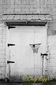 Shabby building, child's hoop