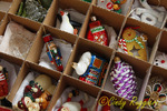 Box of Christmas Ornaments