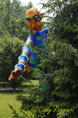 Giant puppet from Open Hand Theater visits Sycamore Hill Gardens.