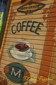 Mural on café building