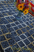 Blueberries at the farmer's market