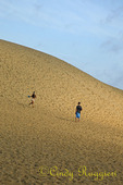 Jockey Ridge State Park, Nags Head, North Carolina, running down the dune