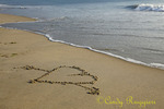 Heart in the sand, Outer Banks, NC
