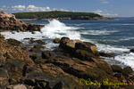 Ocean surf along the rocky coastline of Acadia National Park, Maine