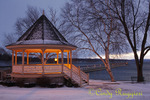 Evening Glow on Gazebo, Skaneateles NY