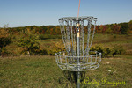 Disc Golf basket, The Apple Farm, Spartan Course, Victor New York