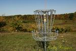Disc Golf basket, The Apple Farm, Spartan Course, Victor New York