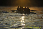 Binghamton University Crew team practice - sunrise on the Susquehanna River