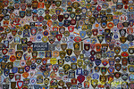 Wall of First Responders Badges, Orange County Choppers, Newburgh New York
