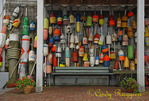 Buoys on a building, Block Island Rhode Island
