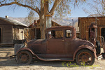 Rusty car in old town, Laws Railroad Museum, Bishop California