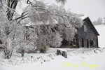 Old Barn and Snowstorm